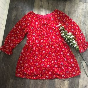 Free People | Red & Yellow Floral Dress/Tunic